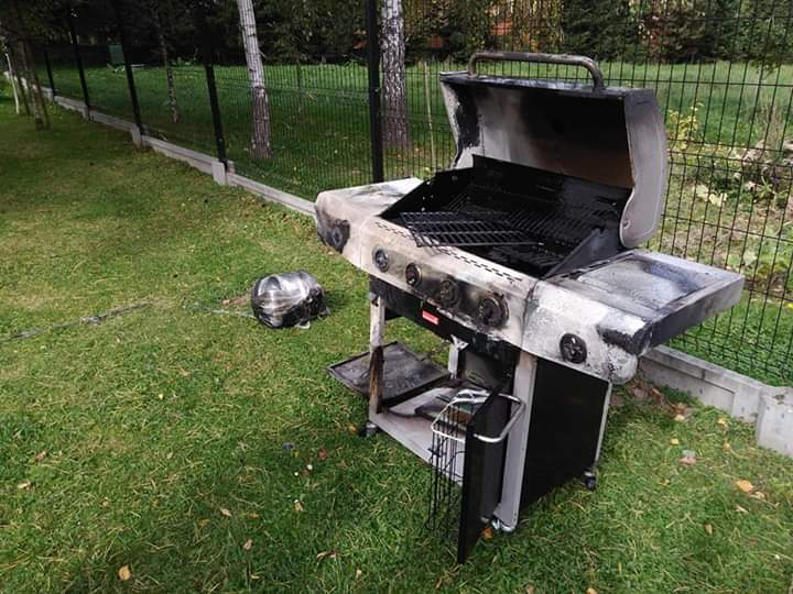 pożar grilla